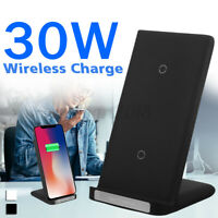 30W Qi Wireless Fast Charger Charging Dock Stand For iPhone 12 Pro Max 11 XS