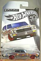 2018 Hot Wheels 50th Anniversary Zamac 4/8 '70 BUICK GSX Zamac w/Red Pr5 Spokes