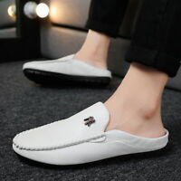 Men's Casual Moccasins Loafers Shoes Lazy Slip On Half Slippers Outdoor Leisure
