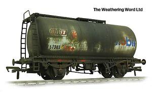 Bachmann BR Grey TTA Oil / Fuel tank wagon *PRO WEATHERED LOOK* BRT
