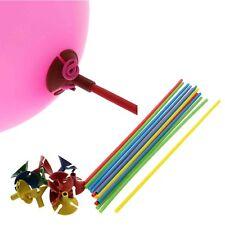 30Pcs Multicolor Plastic Balloon Prop Rod Holder Sticks+Cups Wedding Party Decor
