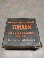 NOS Timken 598 Tapered Roller Bearing In Vintage Box