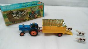 Corgi Toys Gift Set 33 Fordson Power Major Tractor with Beast Carrier & Animals