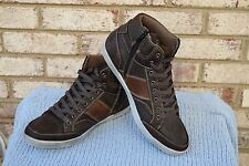 NEW Men's Size 10 Day Five Manchester Brown High Top Lace Up/Zip Shoes $59.99
