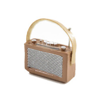 Dolls House 1960's Tan Transistor Radio Miniature 1:12 Scale Accessory