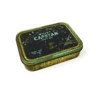 Vintage Wills's Capstan Navy Cut 2oz Pipe Tobacco Tin Navy Blue Authentic