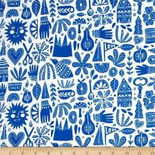 Cloud 9 Organic Kindred Fable Blue - Cotton Quilting Fabric - FAT 1/4