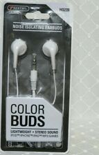 Sentry Noise Isolating Colorbuds 4ft Cord 3.5 plug IPhone, IPad, ext WHITE