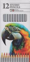 Chiltern Arts 12 STUDIO Colour Artist PENCILS For Drawing Tones Shades Sketching
