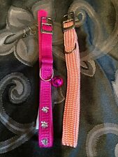 """Pink 3/8"""" X 10"""" Cat or Small Dog Collars"""