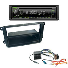Kenwood CD USB Autoradio für VW Caddy Beetle Amarok 1-DIN Blende + ISO Adapter