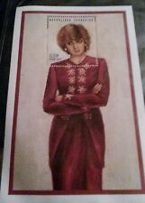 """Princess Diana """"Red Dress"""" Stamp / Certificate of authenticity"""
