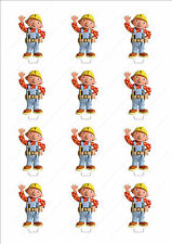Novelty Bob The Builder Stand Up Fairy Cake Cupcake Topper Edible Wafer Birthday