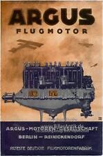 Argus moteurs société Berlin hélices usine affiche moteur a3 102