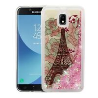 Eiffel Tower & Pink Hearts Glitter SAMSUNG J737P Galaxy J7 Refine J7 V 2nd Gen