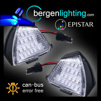 Para Volkswagen Jetta Passat EOS 18 LED Azul Bajo Espejo Charco Luz Lámpara Par