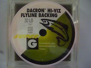 Gudebrod Braided Dacron Fly Line Backing - 12-30 Lb 100-1200 Yd -Orange/Natural
