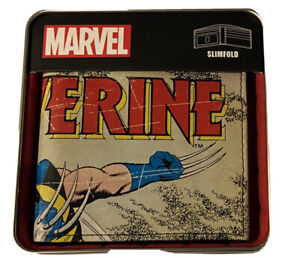 Marvel Comics Wolverine Wallet & Collectible Gift Tin Box