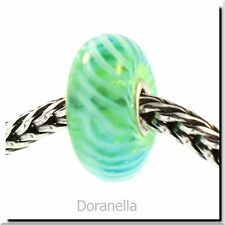 Authentic Trollbeads Glass 61370 Turquoise Feather :1