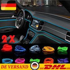 1-5M Auto LED EL Ambientebeleuchtung Innenraumbeleuchtung Lichtleiste Neon Licht