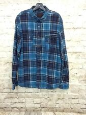 GUESS Los Angeles Plaid Check Shirt Button Front Long Sleeve Men's Size XL