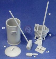 Resicast 1/35 Cleaning Materials (Broom Bin Dust Pan Mop Cart Hand Brush) 352389