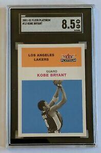 2001 Fleer Platinum Kobe Bryant #13 SGC 8.5 LN