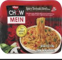 Nissin Chow Mein Noodles Spicy Teriyaki Beef 4 oz Each (8 pack)