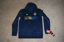 Youth Large (14/16) Los Angeles GALAXY MLS Adidas Navy Blue Hoodie Sweater NWT