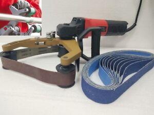 Tube Belt Sander Stainless Steel Pipe Polisher Around Pipe Electric Sanding Tool