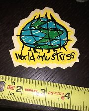 World Industries Skateboards Sticker Sma Vintage 90s NOS Map Globe