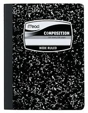 MEAD Composition Book WIDE Ruled Black Marble Cover Notebook Journal Lab School