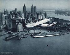 1931 Vintage 11x14 AVIATION AIRPLANE Aerial Dornier Do X New York Photo Gravure
