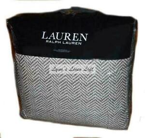 RALPH LAUREN Dorian Brown Herringbone 3P KING COMFORTER SET $420