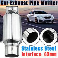 2.5'' 63mm Inlet Car Rear Exhaust Tail Pipe Tip Muffler Silencer Resonator