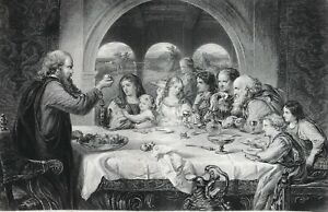 Christiana at the House of Gaius c1867 Original, Gaius offers food to guests