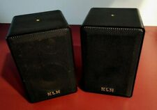 KLH Model 970 Bookshelf Speakers, indoor/outdoor Black 40w Work fine