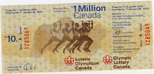 1976 Olympic Lottery Canada Full Ticket mint Montreal Games