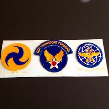 Authentic WW2 Army Air Command GHQ Patches/3 Original Patches for 1 price