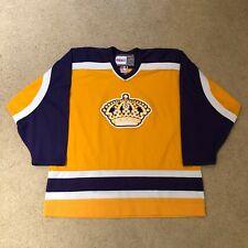 Los Angeles Kings CCM Vintage Hockey Jersey NHL Yellow Purple Crown XL