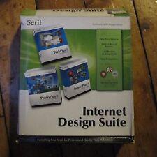 Serif Internet Design Suite Retro Windows 98 2000 XP PC CD ROM BIG BOX COMPLET