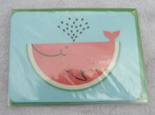 3 Pack Cute 3D Watermelon Whale Blank Inside Papyrus Greeting Cards High Qual