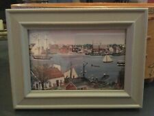 PRIMITIVE FOLK ART PICTURE IN LOVELY FRAME.RUSTIC COUNTRY SHABBY CHIC.