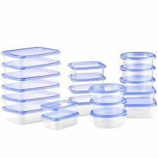 Lot 20 Boîtes Conservation Alimentaire Plastique Transparent Tupperware Etanche