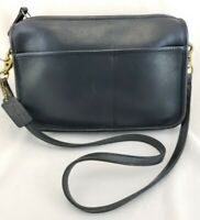 Vintage Coach Clutch Convertible Purse Handbag Shoulder Bag New York City Blue