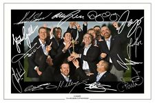 EUROPE 2014 RYDER CUP WINNING TEAM SIGNED AUTOGRAPH PHOTO PRINT GOLF