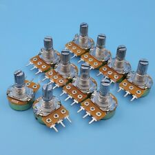 10Pcs 50K Ohm B50K 15mm 3Pin Single Linear Taper Potentiometer