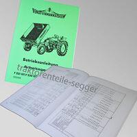 Fendt Betriebsanleitung Geräteträger Arbeitsgeräte F231 230 225 220/1 GT 500048