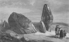 FRANCE. Carnac stones. Druidic remains of Brittany. Stones of St Barbe, 1871