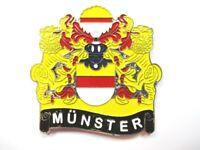 Münster Stadtwappen Magnet Metall ,Souvenir Germany,Deutschland,Neu